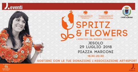 Spritz & Flowers l'aperitivo del fiorista italiano, a Jesolo il 29 luglio 2018