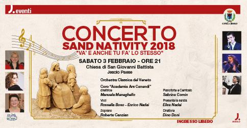 Concerto Sand Nativity 2018 sabato 3 febbraio 2018, chiesa di S. Giovanni Battista