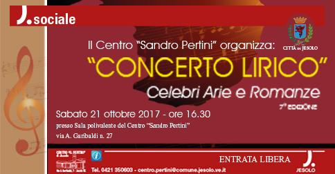 Concerto lirico celebri arie e romanze Centro Pertini, Jesolo, 21 ottobre 2017