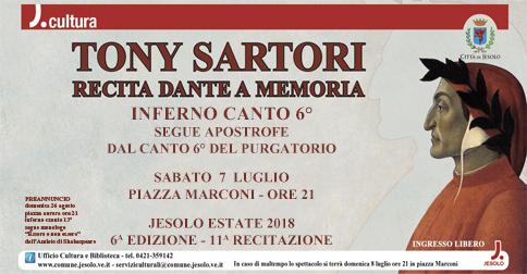 Tony Sartori recita Dante 2018 a Jesolo