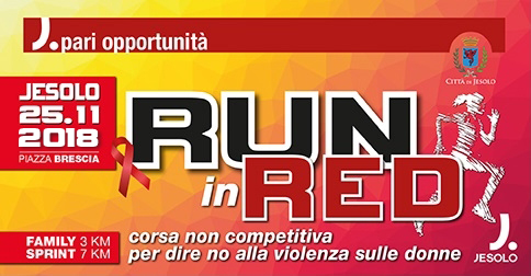 Run in red Giornata mondiale contro la violenza sulle donne-Jesolo 25 novembre