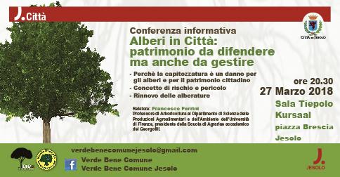 Conferenza Alberi in città-patrimonio da difendere ma anche da gestire