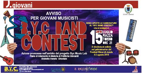 BYC Contest 2018 a Jesolo, 15 luglio h 21 piazza Torino