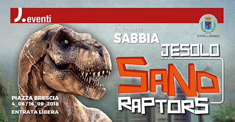 sculture di sabbia Sand Raptors a Jesolo dal 4 giugno al 16 settembre