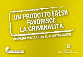 Campagna per la lotta alla contraffazione del Ministero per lo sviluppo economico