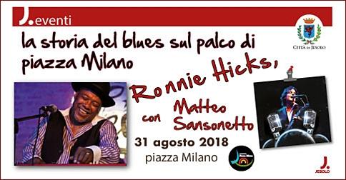 Ronnie Hicks e Matteo Sansonetto in concerto a Jesolo