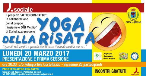Yoga della risata presentazione a Cortellazzo -Jesolo - lunedì 20 marzo 2017 alle 20.30