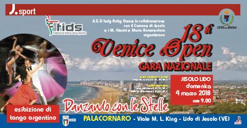 Venice Open gara di ballo a Jesolo il 4 marzo 2018