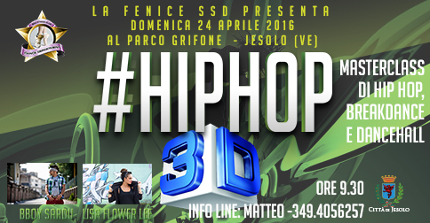 hiphop 3D masterclass a jesolo il 24 aprile 2016, parco Grifone