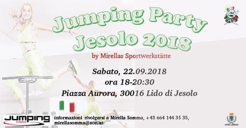 Jumping party a Jesolo il 22 settembre 2018, piazza Aurora
