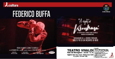 Federico Buffa A Night in Kinshasa il 21 e 22 febbraio2018 al Teatro Vivaldi di Jesolo