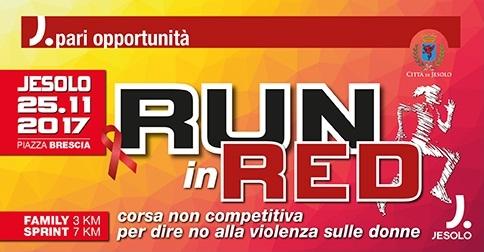 Run in Red per la Giornata mondiale contro la violenza sulle donne- Jesolo 25 novembre 2017