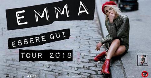 Emma Marrone a Jesolo lunedì 14 maggio 2018 per la data zero del suo Essere Qui Tour 2018