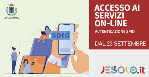 accesso ai servizi on line  Comune di Jesolo - Autenticazione Spid dal 23 settembre